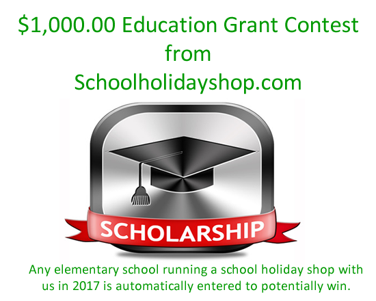 Education grant contest school holiday shop