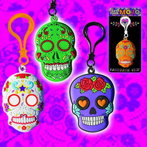 SWEET SUGAR SKULL BACKPACK CLIPS