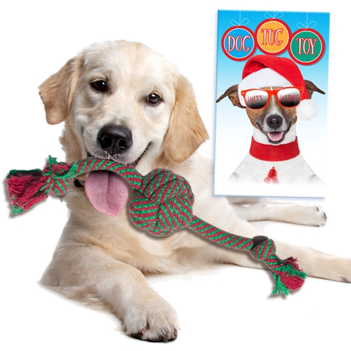 HOLIDAY DOG TUG TOY