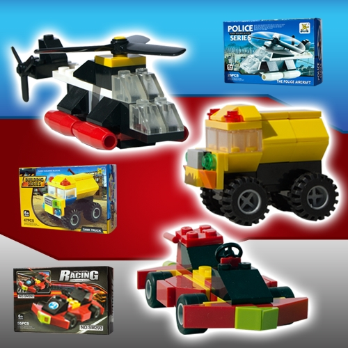 VEHICLE BUILDING BLOCK SET