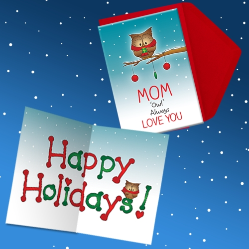 MOM I WILL ALWAYS LOVE YOU HOLIDAY CARD