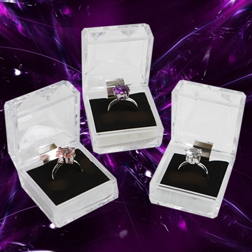 CRYSTAL FASHION ADJUSTABLE RINGS