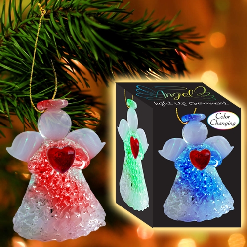 LIGHT-UP ANGEL ORNAMENT