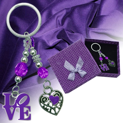 LOVE CRYSTAL KEYCHAIN