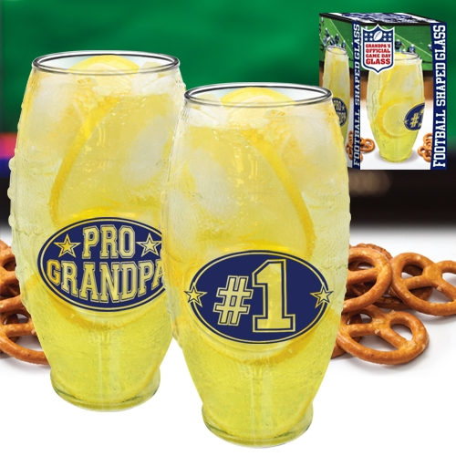 #1 GRANDPA FOOTBALL GLASS