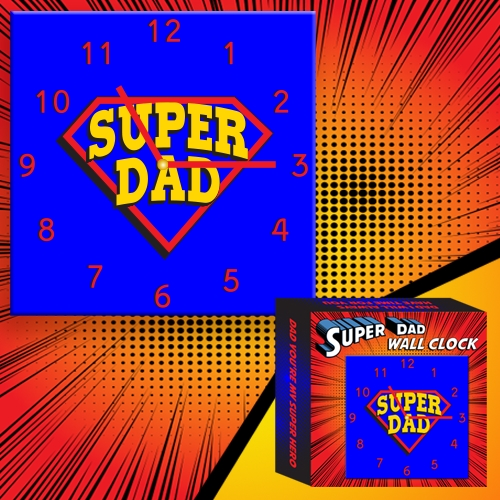 SUPER DAD WALL CLOCK