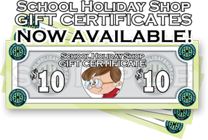 School holiday shop Gift Certificates