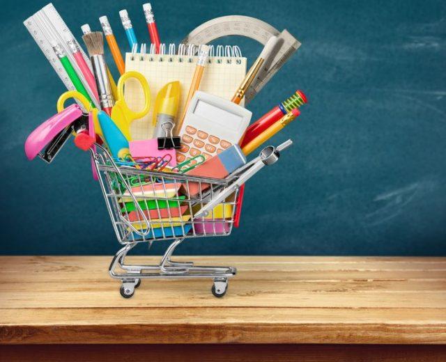 elementary school shopping back to school supplies list