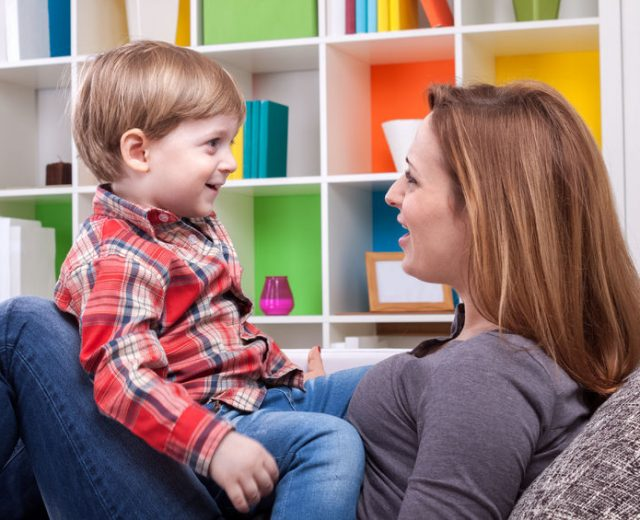 How much time do parents spend talking to their children?